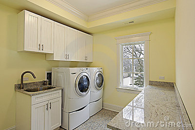 Laundry room in luxury home