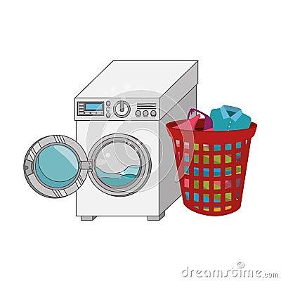 Free Laundry Service Set Icons Stock Images - 84384594
