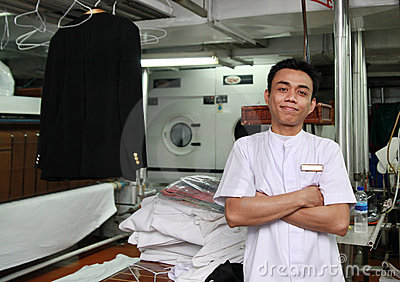 Laundry staff