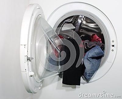 Laundry in whashing machine