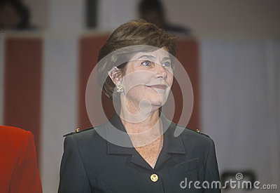 Laura Bush Editorial Stock Photo
