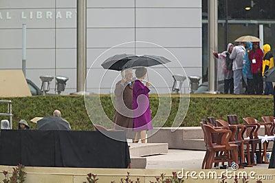 Laura Bush and Barbara Bush Editorial Stock Image