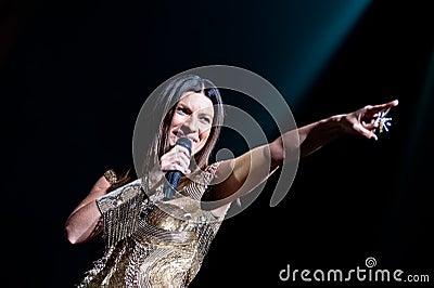 Laura Pausini live in London Editorial Stock Photo