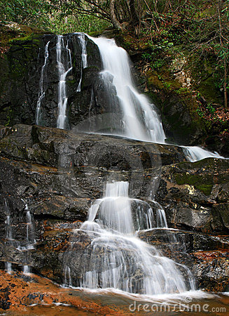 Free Laurel Falls In The Smoky Mountains NP Royalty Free Stock Image - 5214006