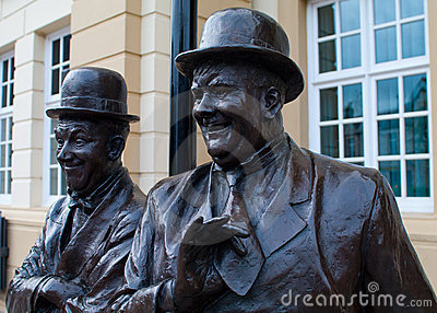 Laurel and Hardy Statue - Ulverston