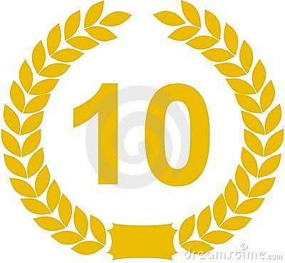 Free Laurel Wreath 10 Years Royalty Free Stock Images - 9210859