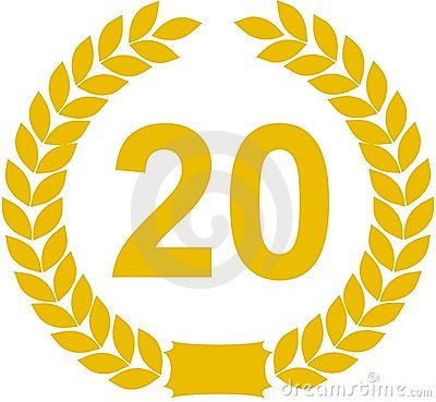 Laurel Wreath 20 Years