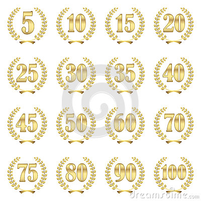 Free Laurel Wreath Collection For Jubilee Royalty Free Stock Images - 54263819
