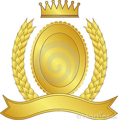 Laurel wreath and crown