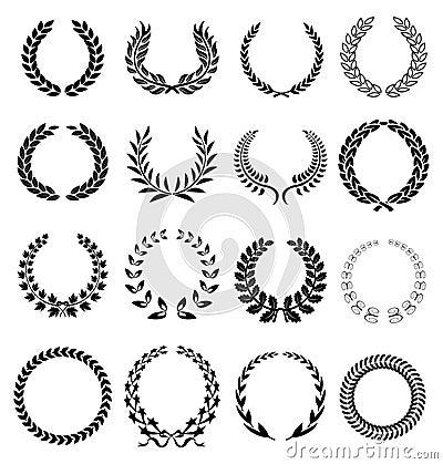 Free Laurel Wreath Icons Stock Photos - 45673093