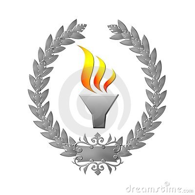 Laurel wreath olympic flame