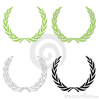 Free Laurel Wreath Set Stock Image - 11344441