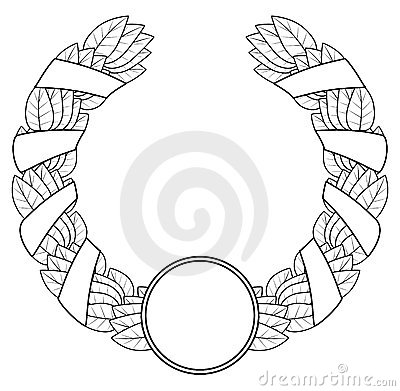 Laurel wreath of the winner.