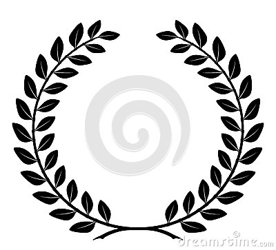 Free Laurel Wreath With Detailed Branches, Vector Royalty Free Stock Image - 28041706