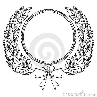 Laurel Wreath Woodcut Royalty Free Stock Photography - Image: 17581377