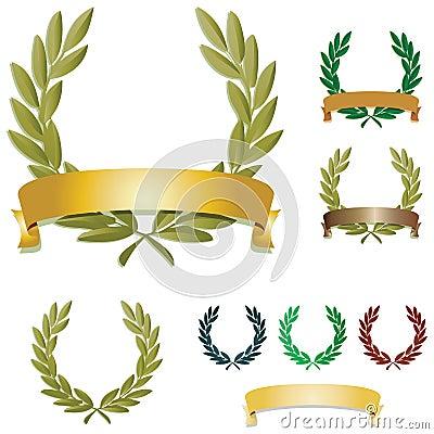 Free Laurel Wreaths Royalty Free Stock Image - 11771046
