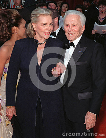 Lauren Bacall,Kirk Douglas Editorial Photo