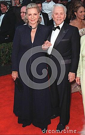 Lauren Bacall,Kirk Douglas Editorial Photo
