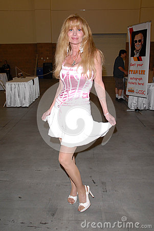 Laurene Landon at the Pasadena Rock n Comic Con, Pasadena Convention Center, Pasadena, CA. 05-28-10 Editorial Image