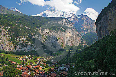 Lauterbrunnen Valley in Switzerland