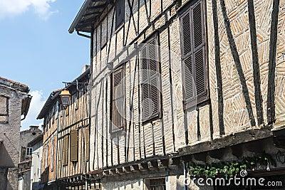 Lautrec (France), old village