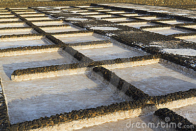 Lava basins of the salt marsh of Janubio