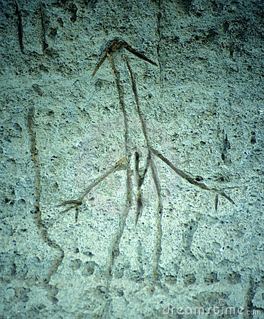 Lava Beds Stick Man Petroglyph