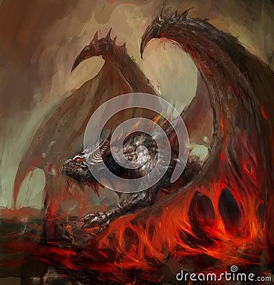 Free Lava Dragon Stock Photography - 24767502