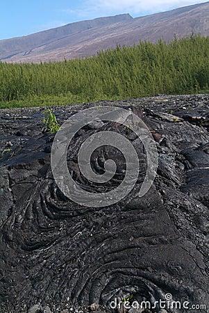 Lava Eruption at La Fournaise on Reunion island