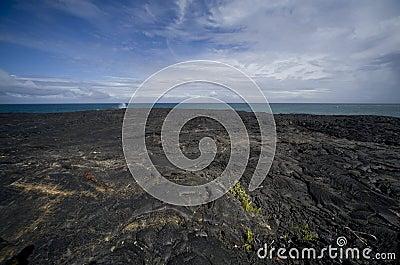 Lava Field at Ocean
