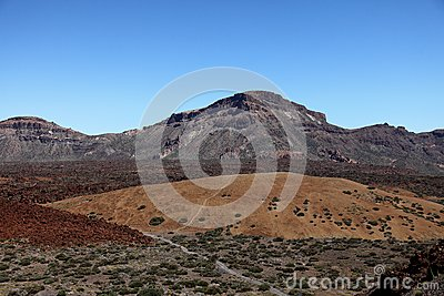 Lava fields on the Spanish island of Tenerife