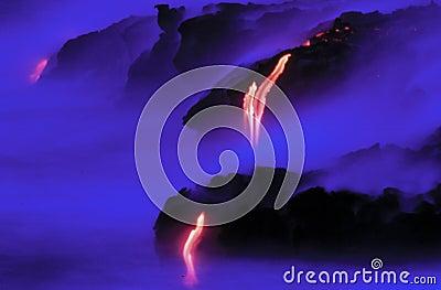 Lava from Kileauea Volcano.