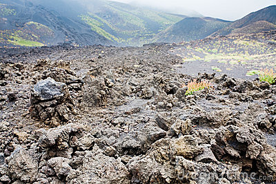 Lava Rocks Close Up On Volcano Slope Of Etna Stock Images - Image: 21281954