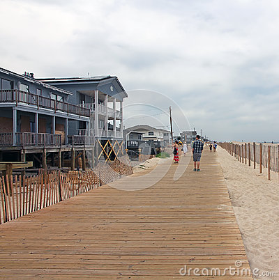 Lavallette New Boardwalk Editorial Stock Image