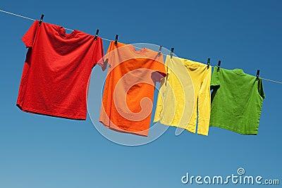Lavanderia alegre do verão