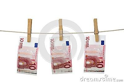 Lavare e di soldi