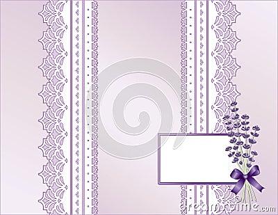 παλαιό lavender δαντελλών παρόν