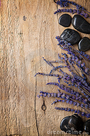 Free Lavender And Spa Stones Stock Photography - 23592282
