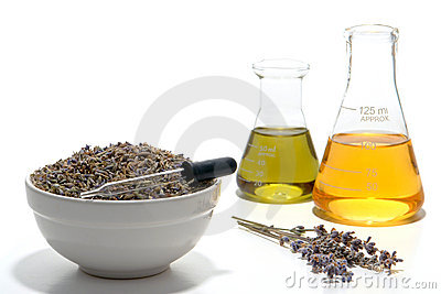 Lavender Aromatherapy Essential Oil Preparation