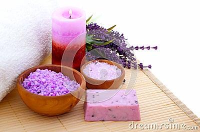 Lavender bath salt,