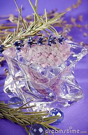 Lavender - bath salt for aromatherapy