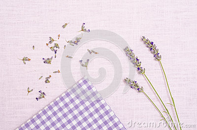 Lavender on a cloth