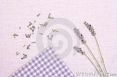 Lavender on a cloth