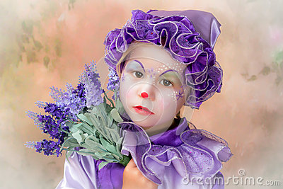 Lavender clown girl