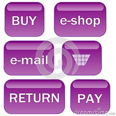 Lavender e-shop icons