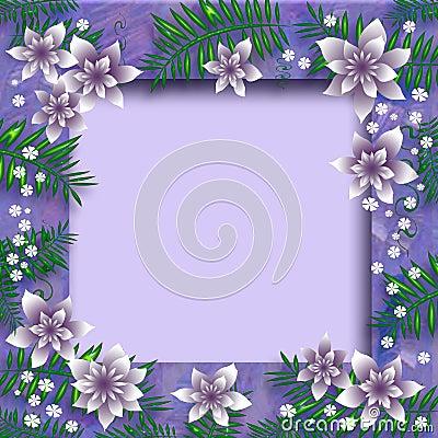 Lavender floral frame