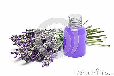 Lavender gel over white background.