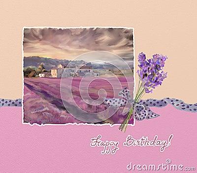 Lavender greeting
