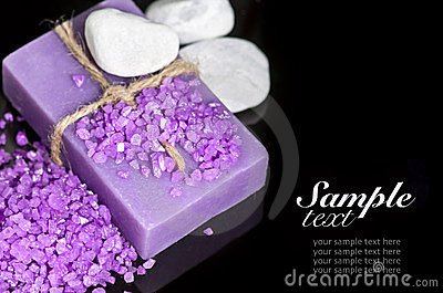 Lavender handmade soap and sea salt
