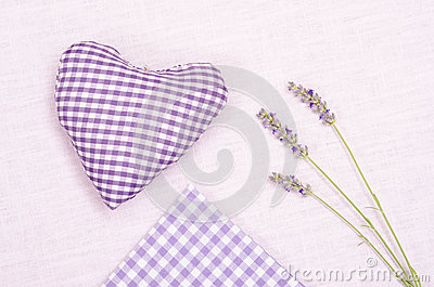 Lavender with heart and cloth of cloth
